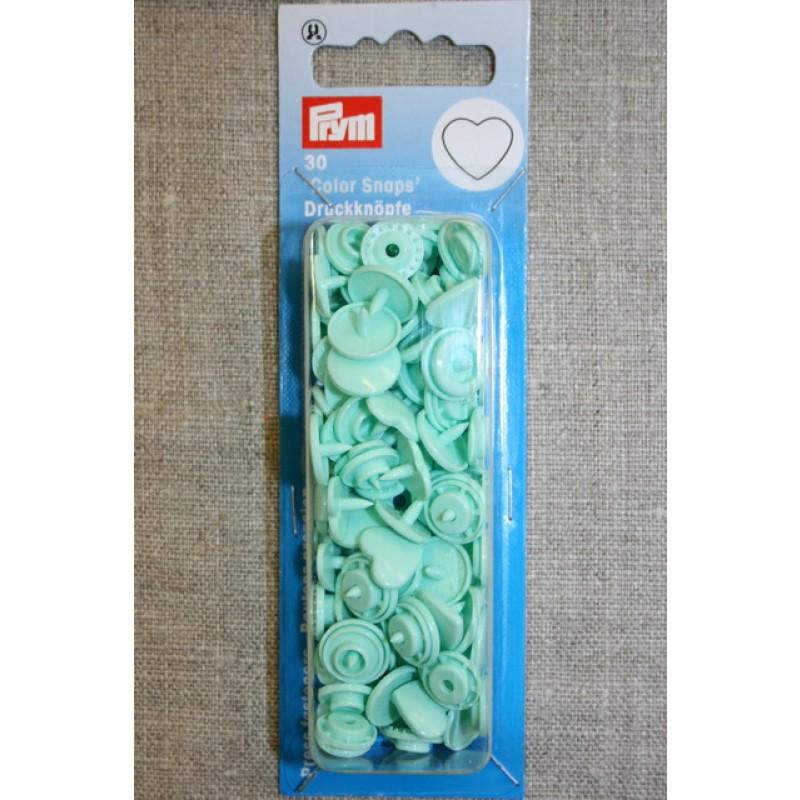 Plast-trykknap hjerte, mint-35
