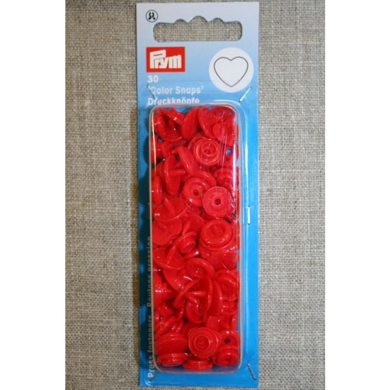 Plast-trykknap hjerte, rød-35