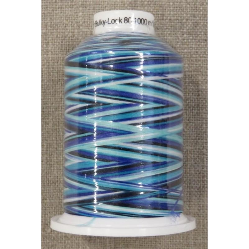 Sytråd multicolour i petrol blå lilla-319