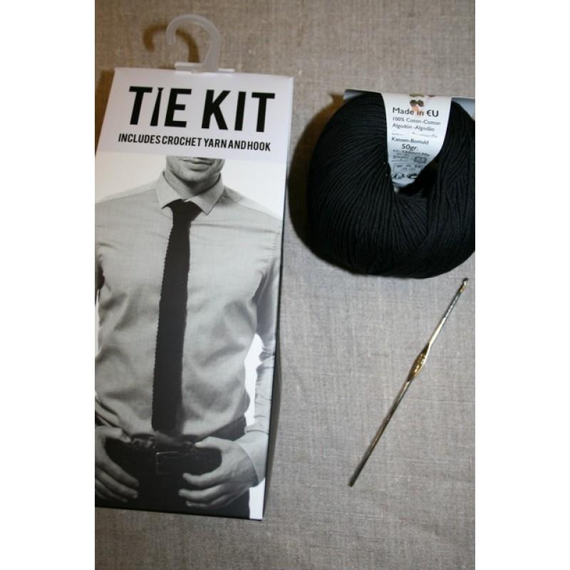 DMC Tie kit/Hæklet slips, sort-35