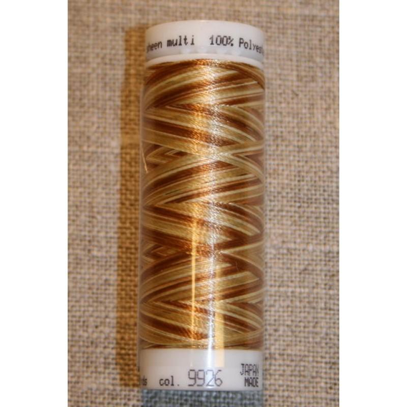 Broderitråd Mettler, multi gyldenbrun--creme