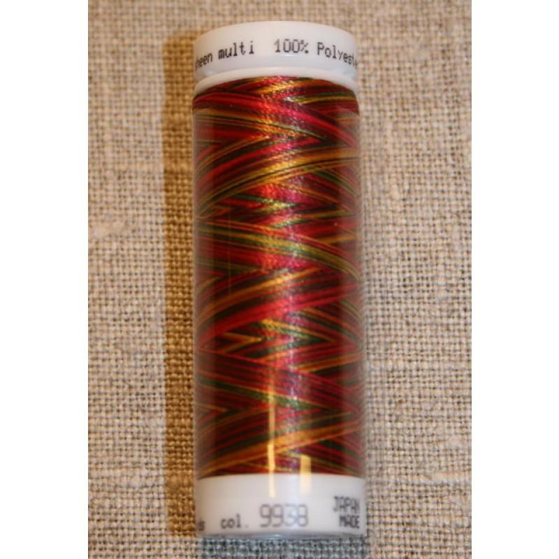 Broderitråd Mettler, multi rød-pink-grøn-gul-31