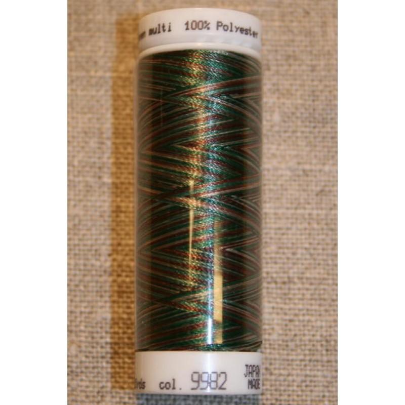 Broderitråd Mettler, multi mørkegrøn-brun-beige-31