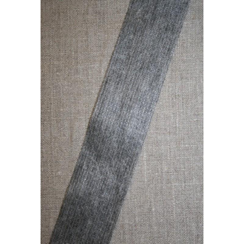 Vlies-bånd/vilene m/tråd-forstærker, grå 45 mm.-31
