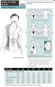 Onion 1032 -Jakke til uld filt & strik