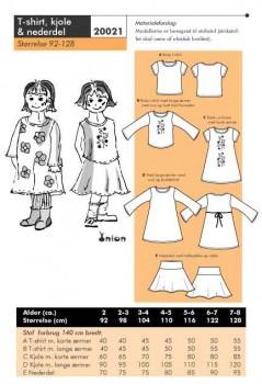 Onion 20021 -T-shirt, kjole & nederdel.