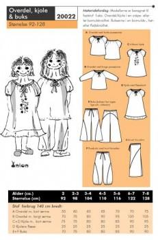 Onion 20022 -Overdel, kjole & buks.