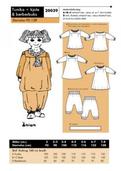 Onion 20039 -Tunika + Kjole & berberbuks