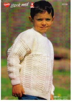 20159 Barnesweater m/ mønster