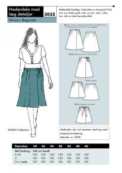 Onion 3032- Nederdel med læg detaljer