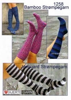 1258 Strikkeopskrift lange strømper