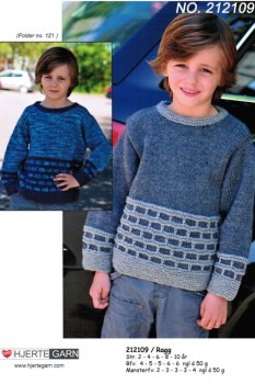 212109 Drengesweater m/mønsterbort