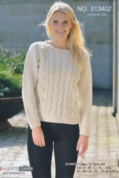 313402 Sweater m/aranmønster