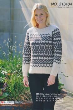 313404 Sweater m/mønsterbort