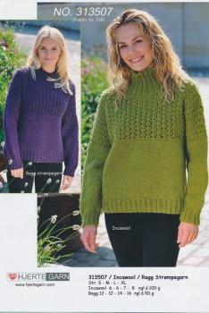 313507 Sweater m/hulmønster