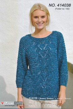 414038 Sweater m/palietter