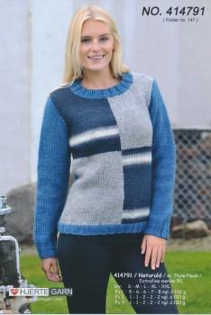 414791 Sweater m/farveblokke