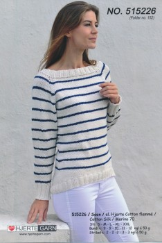 515226 Stribet top-down sweater