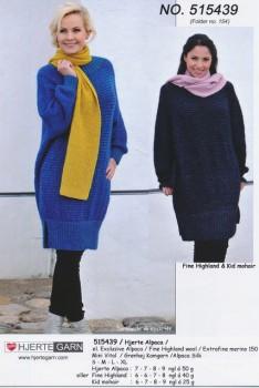 515439 Oversize tunika i uld & mohair