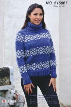 515867 Sweater m/nordisk mønster