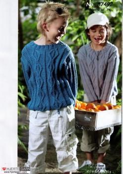 87492 Sweater med snoninger