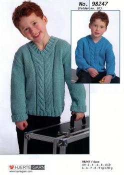 98247 Sweater m/fletmønster