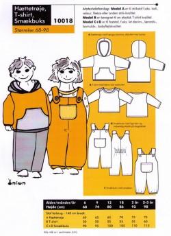 Onion 10018 -Hættetrøje, t-shirt, smækbukser
