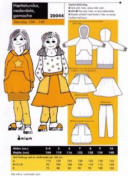 Onion 20044 -Hættetunika,nederdel,gamacher