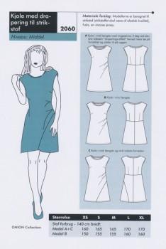 Onion 2060 -Kjole med drapering til strikstof