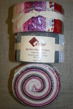 Quilters Basic Perfect rosa/grå/rød