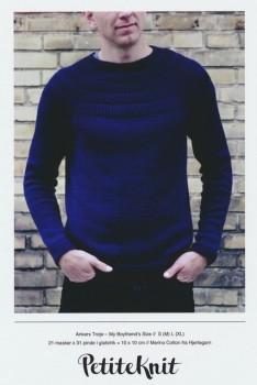 Ankers trøje - My boyfriend´s size - PetiteKnit strikkeopskrift