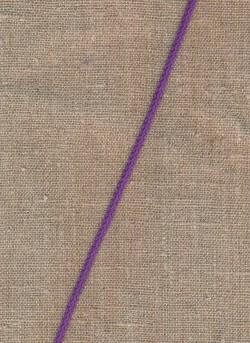Anoraksnor bomuld 3,5 mm. rød-lilla