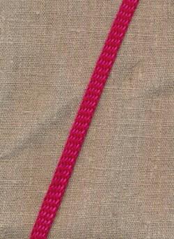 Flad anoraksnor rød/pink meleret
