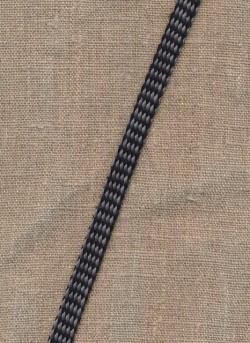 Flad anoraksnor sort/grå meleret