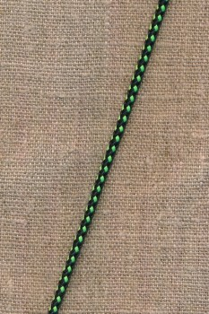 2-farvet anoraksnor sort og lime