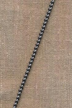 2-farvet anoraksnor sort og grå
