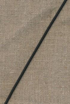 Elastik-anoraksnor, sort 3 mm.