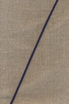 Anoraksnor bomuld 3,5 mm. marine