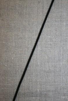 Anoraksnor bomuld 3,5 mm. sort