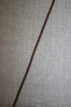 Anoraksnor bomuld 3,5 mm. mørkebrun