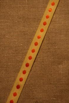 Bånd med prikker lysegul-orange