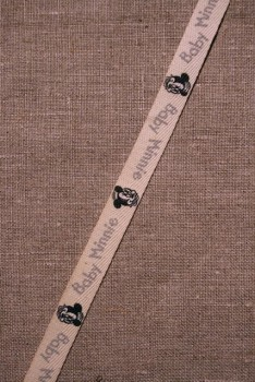 Rest Off-white bånd m/baby Minnie, 90 cm.
