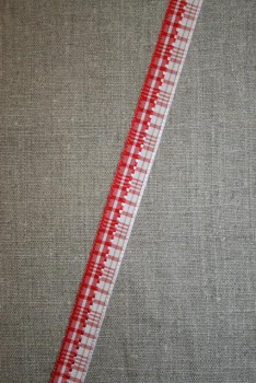 Blank ternet bånd rød-hvid