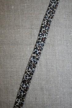 Bånd med læg & leopard-prikker brun-grå