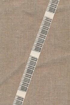 5 meter Bånd i bomuld i offwhite med tangenter