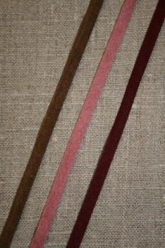 Alcantara-bånd brun
