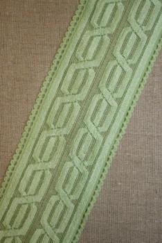 Blonde m/kabel-mønster lysegrøn