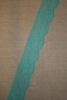 3 meter Nylonblonde 30 mm, aqua - irgrøn