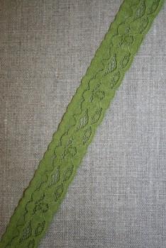 Strækblonde 20 mm. mørk lime