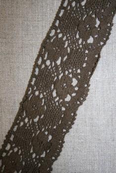 Bomulds-blonde 50 mm. mørkebrun